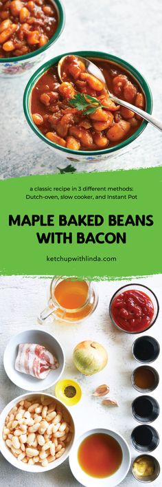 Maple Baked Beans with Bacon