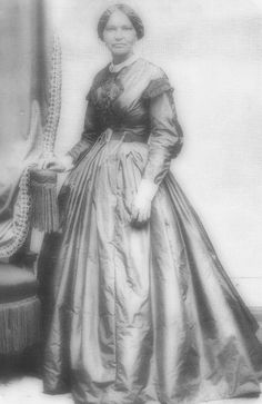 Elizabeth Keckley bought her freedom and rose to become Mary Todd Lincoln's dress designer and personal confidant. Born a slave and fathered by a white plantation owner in Virginia. Ms. Keckley worked as a dressmaker in St. Louis, using her skills to buy freedom for herself and her son (a son she had after being raped by a white man).