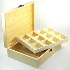 Design Your OWN Wood BOX DIY Unfinished Sewing Trinket Beads Jewelry Craft | eBay