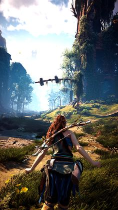 Horizon Zero Dawn - Video Games - Ideas of Video Games - Horizon Zero Dawn Horizon Zero Dawn Wallpaper, Horizon Zero Dawn Aloy, Games Images, Gaming Wallpapers, Ps4 Games, Playstation Games, Video Game Art, Sci Fi Fantasy, Post Apocalyptic