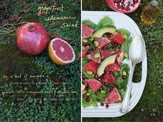 Grapefruit edamame salat