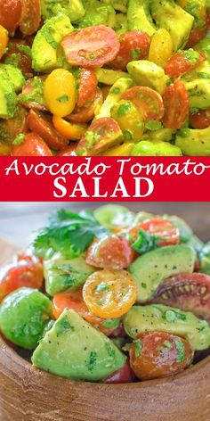 Healthy and so flavorful, this Tomato Avocado Salad makes a great addition to your dinner or lunch. This is one of the most loved recipes in my family! Avocado Salad Recipes, Healthy Salad Recipes, Vegetarian Recipes, Cooking Recipes, Tomato Salad Recipe, Keto Avocado, Clean Eating Snacks, Healthy Eating, Best Nutrition Food