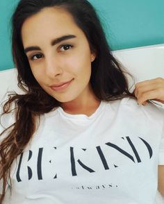 The Be Kind Shirt worn by @everydaysimplehealth | Veganized World | 100% Sweatshop-Free | Eco-Conscious Clothing | x