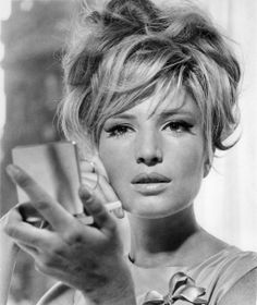 Monica Vitti. Messy up-do