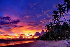All that's missing is a sundowner! Spectacular sunset in Ao Nang, Krabi http://www.travelnation.co.uk/thailand/
