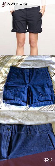 LIGHTLY WORN- Gap navy boyfriend roll up shorts Dark navy Gap roll up boyfriend shorts - LIGHTLY WORN!!   Originally: $44.95  Selling: $20 GAP Shorts Bermudas