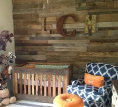 Project Nursery - Baby Boy Nursery with Reclaimed Wood Accent Wall - Project Nursery