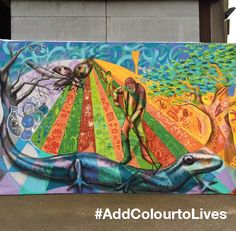 Done. The second #AddColourtoLives mural is finished - what do you think? See it in person at Heathrow!
