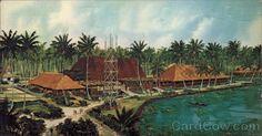 Coco Palms-Kauai, HI-Elvis filmed parts of Blue Hawaii. Now in ruins after Hurricane Iniki.
