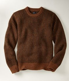 Sam Fisher and Til Schweiger wear wool sweaters.  Enough said.   L.L. Bean Matinicus Rock wool sweater