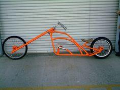 That is one sick chopper bicycle Recumbent Bicycle, Cruiser Bicycle, Motorized Bicycle, Trike Bicycle, Bicycle Wheel, Custom Choppers For Sale, Custom Bikes, Velo Vintage, Vintage Bicycles
