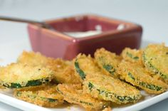zucchini recipes   Recipe for Fried Panko Crusted Zucchini at Life's Ambrosia
