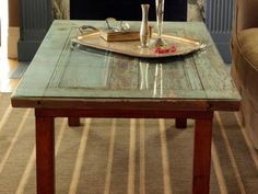 DIY Network has instructions on how to repurpose an old door and turn it into a coffee table.