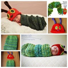 DIY Newborn Caterpillar Hat & Cocoon