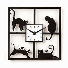Reloj de pared Gatos Traviesos