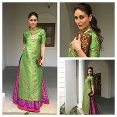 """Kareena Kapoor Ready for the international children's film festival in Hyderabad. @BOLLYWOODSTYLEFILE  OUTFIT- @payalkhandwala  CLUTCH-@anitadongre .…"""
