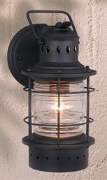 Used Electric Wall Sconces : Captains iron Wall Lantern Indoor and Outdoor Coastal sconces Pinterest Iron Wall, Wall ...