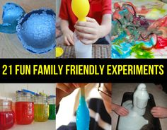 Mancave and Tips - 21 Fun Family Friendly Experiments Preschool Science, Science For Kids, Science Activities, Science Projects, Projects For Kids, Diy For Kids, Crafts For Kids, Science Kits, Kids Fun