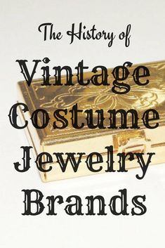 , The History of Vintage Costume Jewelry Brands , It was thanks to fashion that costume jewelry rose in prominence for the everyday woman to wear. As necklines dipped lower and hair became short. Vintage Costume Jewelry, Vintage Costumes, Antique Jewelry, Vintage Jewelry, Modern Jewelry, Vintage Brooches, Grandmother Jewelry, Jewelry Tags, Cheap Jewelry