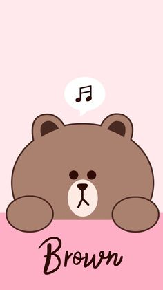 brown and cony 10 Lines Wallpaper, Brown Wallpaper, Cute Girl Wallpaper, Bear Wallpaper, Kawaii Wallpaper, Cute Wallpaper Backgrounds, Wallpaper Iphone Cute, Galaxy Wallpaper, Disney Phone Wallpaper