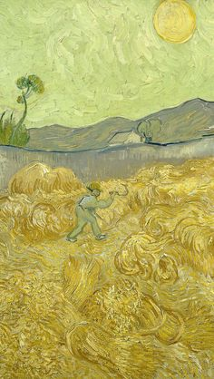 Van Gogh& painting in the iPhone wallpaper Landscape Painting Artists, Famous Landscape Paintings, Landscape Artwork, Landscape Wallpaper, Artist Painting, Arte Van Gogh, Van Gogh Art, Van Gogh Wallpaper, Iphone Wallpaper