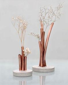 copper and concrete combination for home decor