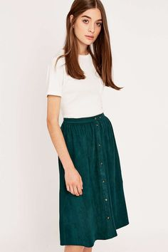 Urban Outfitters Suedette Midi Skirt