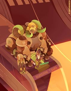 Overwatch Orisa and Efi Oladele GIF by anushbanush on Tumblr