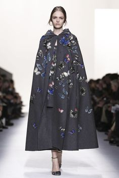 Valentino Ready To Wear Fall Winter 2014 Paris...Cute, imagine this cape in your wedding theme or colors. Ask your dressmaker for suggestions.