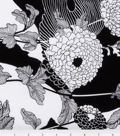 Keepsake Calico Fabric - Yoko Black & White .. LOVE this fabric! So happy I have some left in my scrap box :)