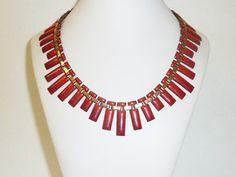 Vintage RENOIR MATISSE Red Enamel Copper by labaublesandbags