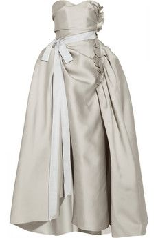 Lanvin Duchesse-satin gown   NET-A-PORTER