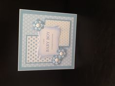 Baby boy card. (I like the basic layout, for ANY kind of card.)