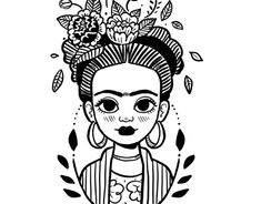 Art Drawings Sketches Simple, Cartoon Drawings, Easy Drawings, Pencil Drawing Inspiration, Kahlo Paintings, Frida Art, Ink Stamps, Preschool Art, Simple Art