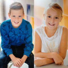 Mijn kids Max (12 jaar) en Jane (9 jaar) (2017). ♥♥ (Foto's zijn van de schoolfotograaf).