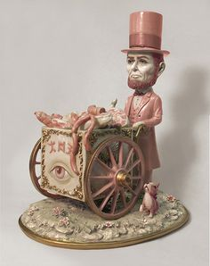 *  Mark Ryden's Porcelains  *  I'm in love with Mark Ryden's porcelains. These pieces were created in 2012, but I just discovered them recently. It's exciting to see his world in 3-D.