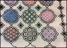 ◇◆◇ Block 4 by Marilyn K. Quick off the mark, I only posted the design today! www.blackworkjourney.co.uk