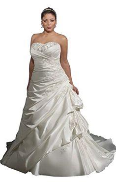 Fanho Women's Strapless Appliques Ruffles Long Plus Size Wedding Dress   Fanho Women's Strapless Appliques Ruffles Long Plus Size Wedding Dress Elegant Lady's First Choice : Strapless,Lace Applequed,Ruffles,Count Train Plus Size Wedding Dress  http://www.effyourbeautystandarts.com/fanho-womens-strapless-appliques-ruffles-long-plus-size-wedding-dress/