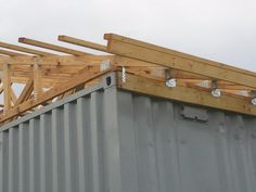 Cargo container roof connections