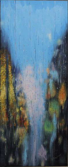 untitled - David Kingman - My painting of an abstract city scene. #Painting #Art