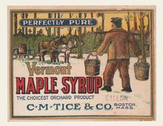 Perfectly Pure Vermont Maple Syrup | OldBrochures.com