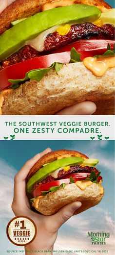 Try this grilled Southwest Spicy Black Bean Veggie Burger at your next backyard BBQ. Your taste buds will thank you. Veggie Recipes, Beef Recipes, Vegetarian Recipes, Cooking Recipes, Healthy Recipes, Recipies, Burger Recipes, Good Food, Yummy Food
