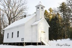Cades Cove Church...went there in the summer but love this winter photo. Love Cades Cove!