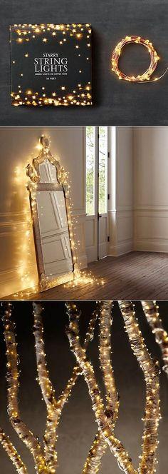 Met LED lampjes aan ijzerdraad kun je alle kanten op! Wikkel ze om takken om het buiten gezellig te maken of gebruik ze om binnen, bijv. een spiegel, te decoreren.