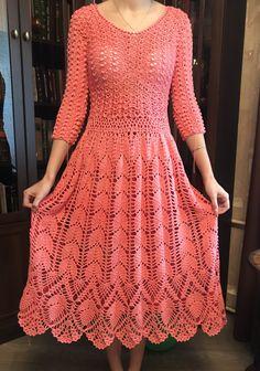 Crotchet Dress, Crochet Beach Dress, Crochet Summer Dresses, Crochet Romper, Crochet Skirts, Diy Crochet, Crochet Clothes, Crochet Collar Pattern, Crochet Baby Hat Patterns