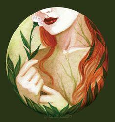 Pochette pour & ldquo; Agana & rdquo ;, un conte illustré.  Disponible sur Etsy.  [Facebook • DeviantArt • Blogspot] © Nataša Ilincic, ne pas retirer les crédits