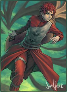 Gaara Running by Sandfreak.deviantart.com on @deviantART