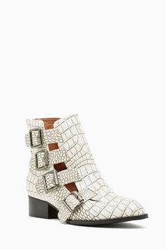 Jeffrey Campbell Evermore Buckled Boot in Croc