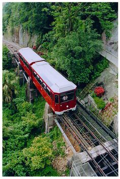 "The internationally-famous 'Peak Tram' has been taking passengers to Victoria Peak for more than a century and riding it is one of Hong Kong's ""must dos""..."