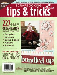Scrapbooking Tips & Tricks: Organization